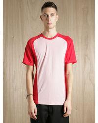Comme des Garçons | Pink Comme Des Garcons Shirt Mens Shoulder Panel Jersey T-shirt for Men | Lyst