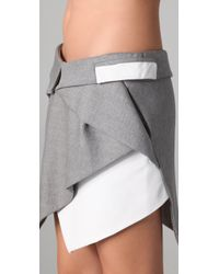 Dion Lee - Gray Intersection Draped Skirt - Lyst