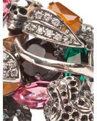 Iosselliani - Metallic Panther Cocktail Ring - Lyst