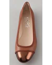 Kors by Michael Kors | Brown Otley Cap Toe Flats | Lyst