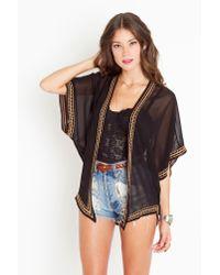 Nasty Gal   Black Beaded Kimono Jacket   Lyst