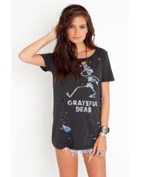 Nasty Gal | Black Grateful Dead Skeleton Tee | Lyst