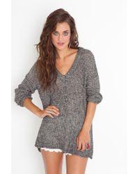 Nasty Gal   Gray Maddy Oversized Knit - Salt & Pepper   Lyst