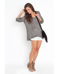 Nasty Gal | Gray Maddy Oversized Knit - Salt & Pepper | Lyst