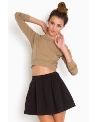 Nasty Gal | Black Varsity Pleated Skirt | Lyst