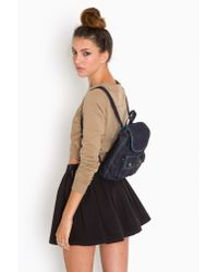 Nasty Gal - Black Varsity Pleated Skirt - Lyst