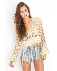 Nasty Gal - Natural Birkin Fringe Top - Cream - Lyst