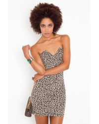 Nasty Gal - Multicolor Right Angles Dress - Leopard - Lyst