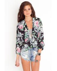 Nasty Gal | Pink Rosy Kimono Jacket | Lyst