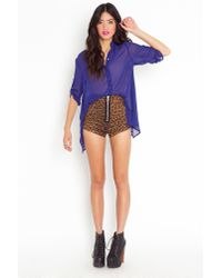 Nasty Gal | Purple Kate Chiffon Blouse | Lyst