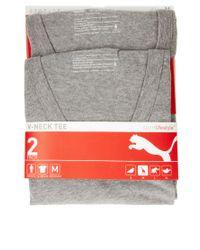 PUMA - Gray 2 Pack V Neck T Shirts for Men - Lyst