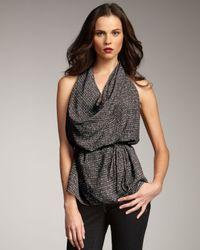 Rachel Zoe | Black Sylvia Cowl-neck Halter Top | Lyst