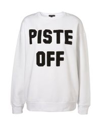 TOPSHOP - White Piste Off Sweater By Ashish** - Lyst