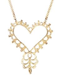 Zoe & Morgan | Metallic Gypsy Love Necklace | Lyst