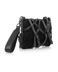 Alexander Wang | Black Prisma Coated Leather Fold-Over Clutch | Lyst