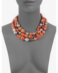 Alexis Bittar | Red Beaded Multi-strand Necklace | Lyst