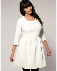 ASOS Collection - Pink Asos Curve Pique Dress with Bow Back - Lyst