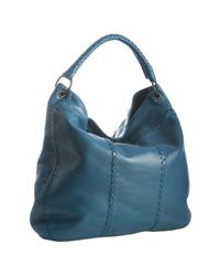 Bottega Veneta | Blue Empire Leather Intrecciato Detail Large Hobo | Lyst