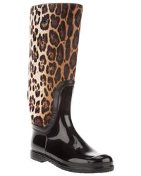 Dolce & Gabbana | Multicolor Leopard Print Boot | Lyst