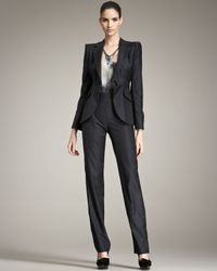 Giorgio Armani | Blue Tonal-check Suit | Lyst