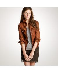 J.Crew | Brown The Jean Shop® Leather Western Shirt | Lyst