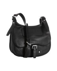 Longchamp | Black Leather Balzane Messenger Bag | Lyst