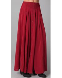 MINKPINK | Red Great Expectations Maxi Skirt | Lyst