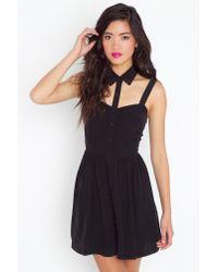 Nasty Gal - Black Cutout Collar Dress - Lyst