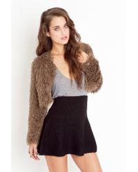 Nasty Gal | Knit Skater Skirt - Black | Lyst