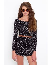 Nasty Gal - Black Seeing Stars Romper - Lyst
