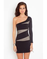 Nasty Gal - Black Slashed Mesh Dress - Lyst