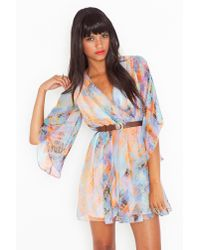 Nasty Gal - Brown Rainbow Daze Dress - Lyst