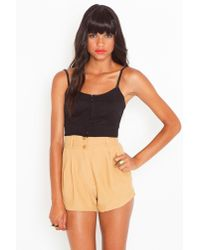 Nasty Gal | Natural Ethel Trouser Shorts | Lyst