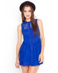 Nasty Gal - Blue Wendy Babydoll Dress - Cobalt - Lyst