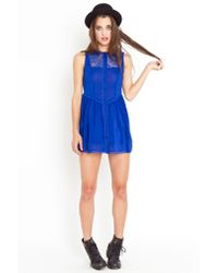 Nasty Gal | Blue Wendy Babydoll Dress - Cobalt | Lyst