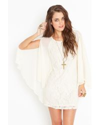 Nasty Gal - White Laced Cape Dress - Ivory - Lyst