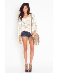 Nasty Gal | White Macrame Crochet Knit | Lyst