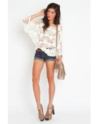 Nasty Gal - White Macrame Crochet Knit - Lyst