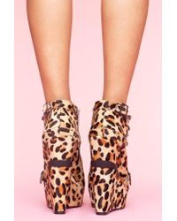 Nasty Gal - Multicolor Mercer Wedge Boot - Leopard Pony - Lyst