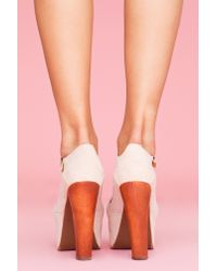 Nasty Gal | Natural Foxy Platform - Nude Suede | Lyst