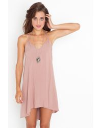 Nasty Gal - Pink Strapped in Racerback Dress - Dusty Rose - Lyst