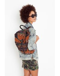 Nasty Gal - Multicolor Sari Woven Backpack - Lyst