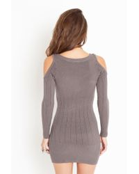 Nasty Gal - Gray Tight Rope Knit Dress - Slate - Lyst