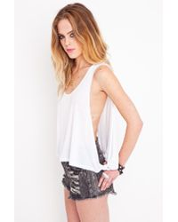 Nasty Gal - White Tug Of War Tank - Lyst