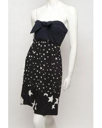 Sonia by Sonia Rykiel | Black Star Strapless Ruffle Dress | Lyst