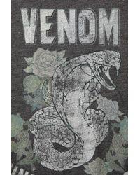 TOPSHOP - Gray Snake Venom Top - Lyst