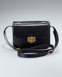 Alexander McQueen | Black Kidskin Crossbody Bag, Medium | Lyst