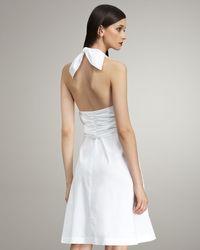 Derek Lam | White Sarong-detail Halter Dress | Lyst
