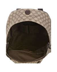 Gucci | Natural Beige Gg Plus Interlocking G Detail Backpack for Men | Lyst