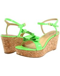 kate spade new york | Green Bandit Cork Wedge Sandal | Lyst